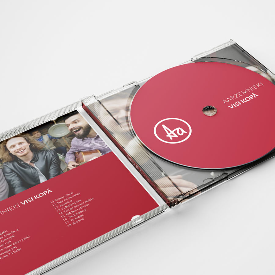 Aarzemnieki CD cover, Design by Frank Leusing