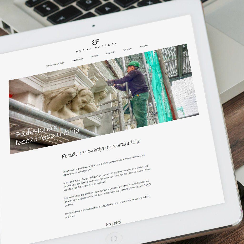 Screen Berga Facades by Web Design Riga