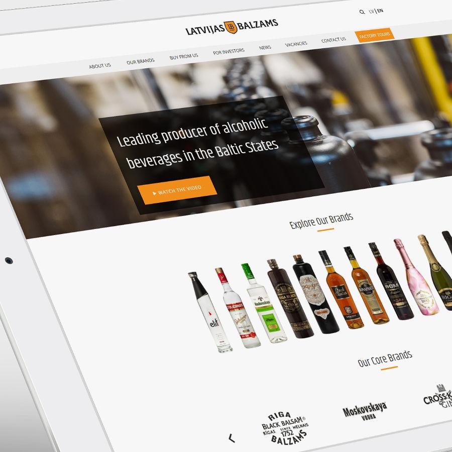 web design for Latvijas balzams