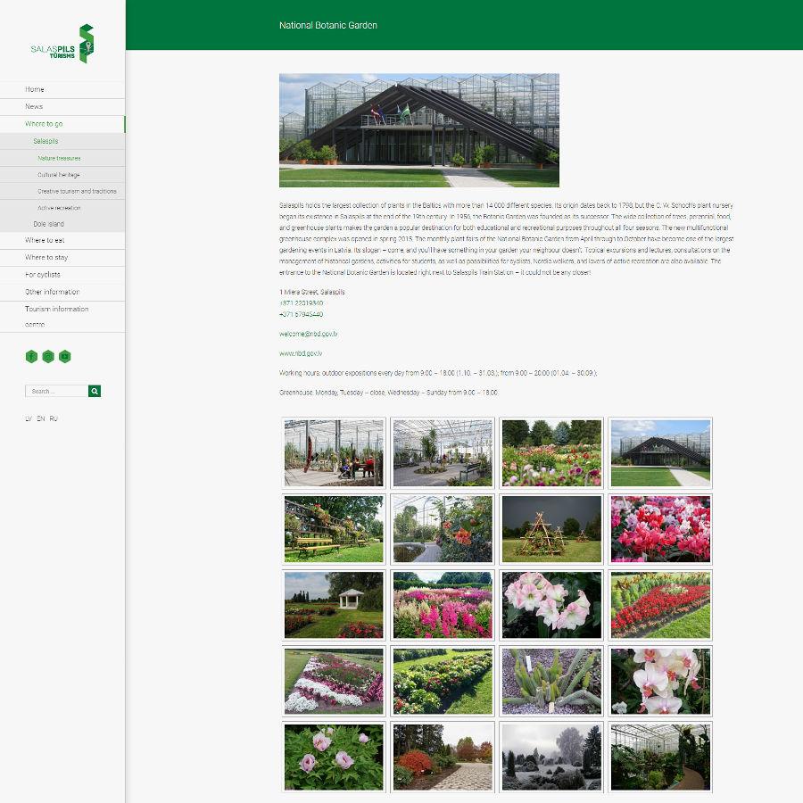 Visit Salaspils, National Botanic Garden
